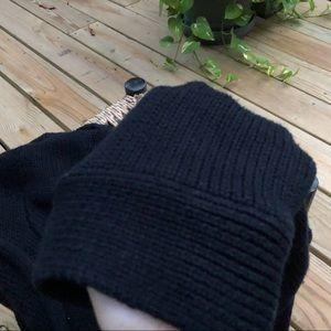 Vintage Sweaters - Vintage Black Rolled Scoop Button Down Cardigan